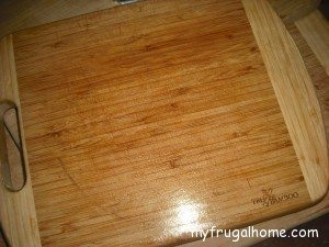 Cutting Board with Oil Applied