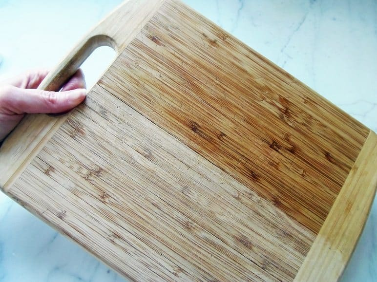 Apply Mineral Oil to Cutting Board