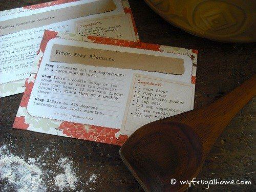 Recipe Card Template