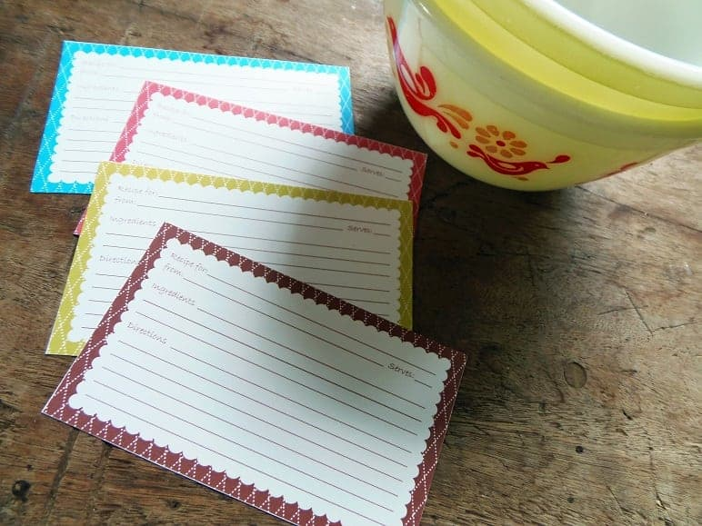 Simple Scallop Recipe Cards