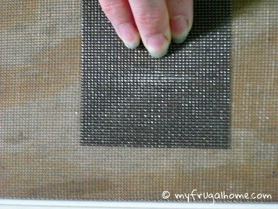 Apply the Window Screen Patch