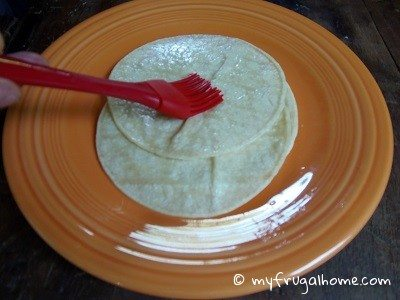 Brush Oil on the Tortillas