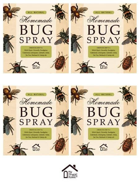 Large Printable Bug Spray Labels