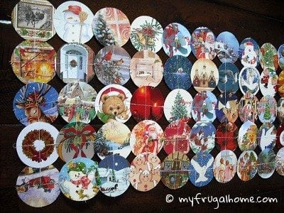 Make a Christmas Card Table Runner