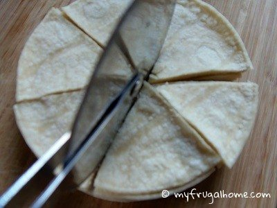 Cut the Tortillas into Wedges