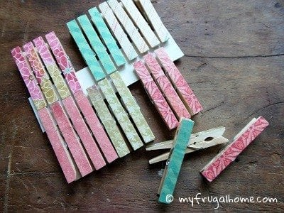 Decoupauged Clothespins