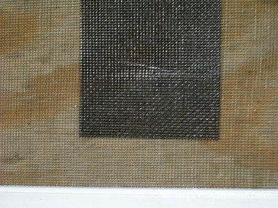 Patched Window Screen