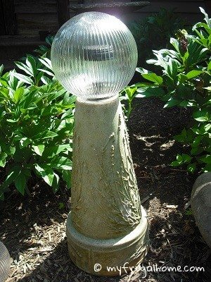 Solar Gazing Ball - Daylight View