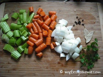 Veggies and Spices for Broth