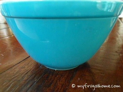 Blue Pyrex Bowl