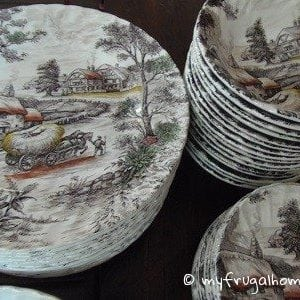 Brown Transferware Dishes
