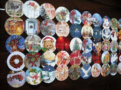 Christmas Card Table Runner