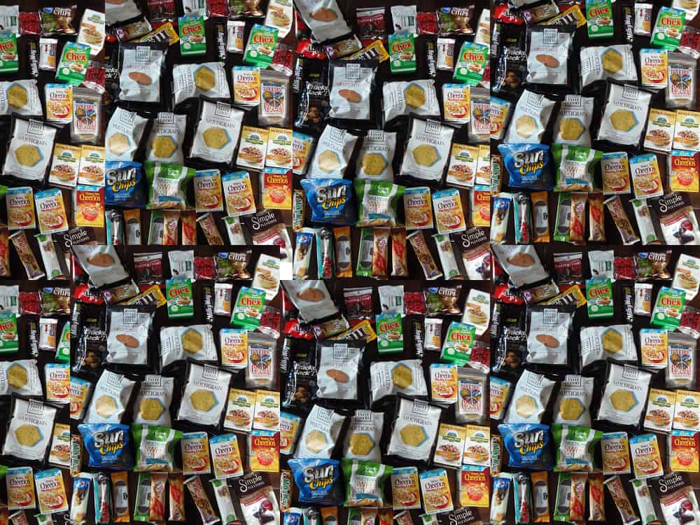 Free Vacation Snacks Collage