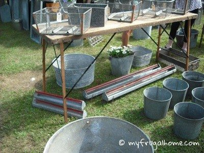 Galvanized Metal Booth