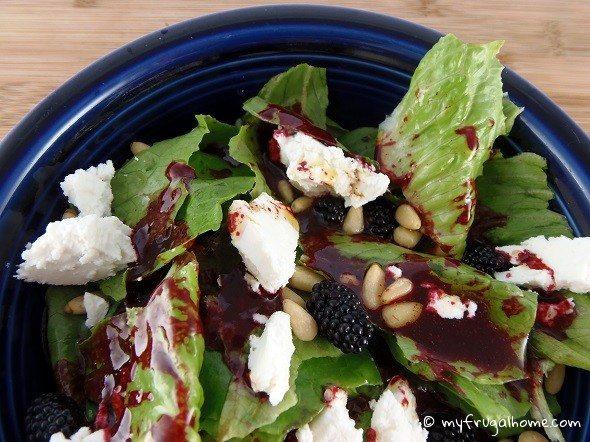 Salad with Blackberry Vinaigrette