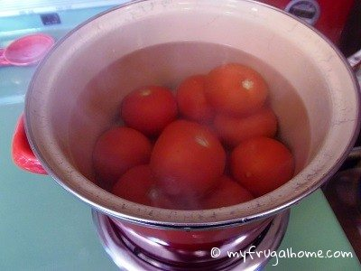 Submerge Tomatoes in Boiling Water
