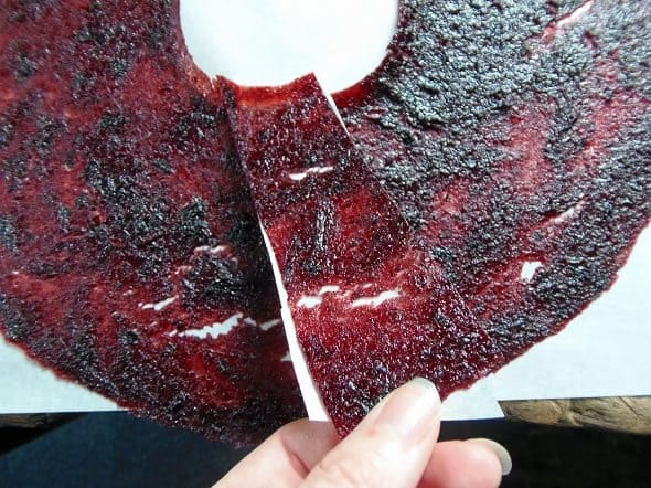 Cut the Fruit Leather into Strips