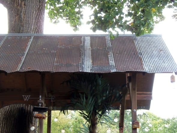 Salvaged Tin Roof