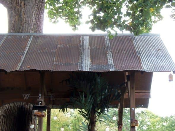 Salvaged Tin Roof
