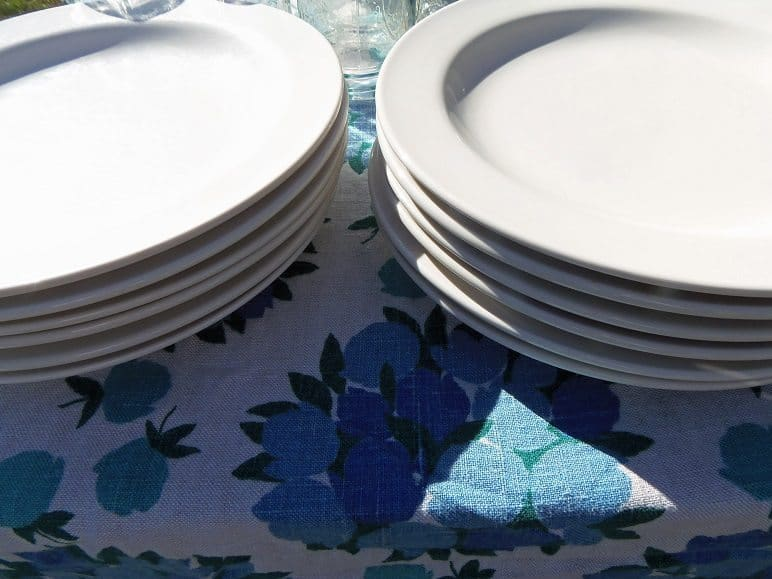 White Restaurant Dishes