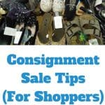 Racks of Consignment Sale Clothing