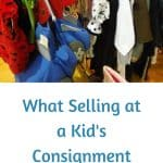 Clothes at a Kids' Consignment Sale