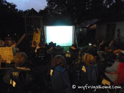 Backyard Movie Theatre