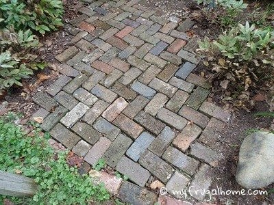 Salvaged Brick Walkway