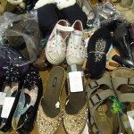 Shoe Table at Consignment Sale