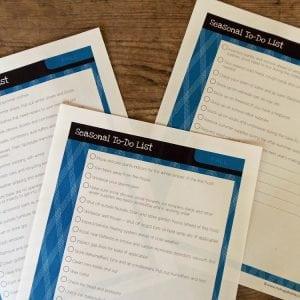 Fall To-Do List Printable