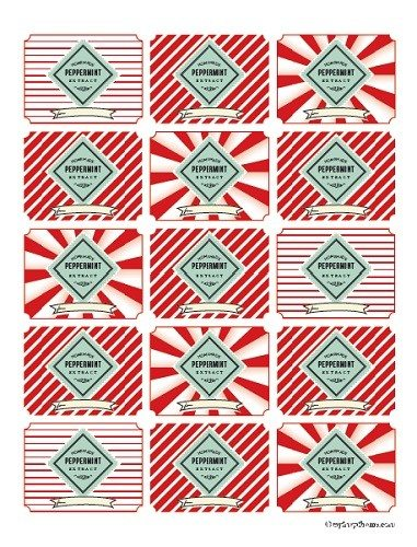 Printable Peppermint Extract Labels