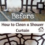 Cleaned Shower Curtain: Before and After
