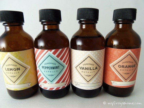 Printable Homemade Extract Labels