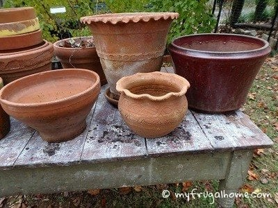Store Flowerpots for Winter