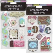 Chipboard Scrapbooking Embellishments