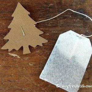 How to Make Christmas Tea Bag