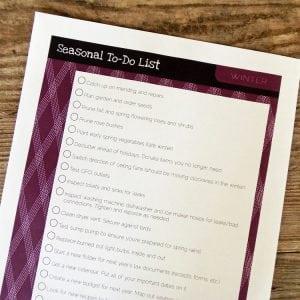 Winter To-Do List Printable