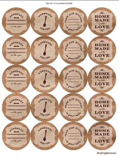 printable canning jar labels. Black Bedroom Furniture Sets. Home Design Ideas