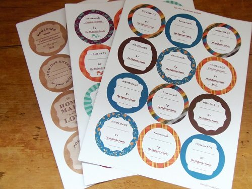 Canning Jar Label Sheets