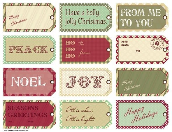 Manila Gift Tags with Printed Fronts