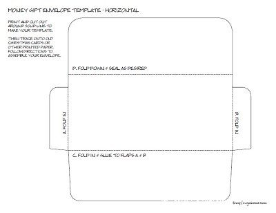 Money Envelope Template - Horizontal