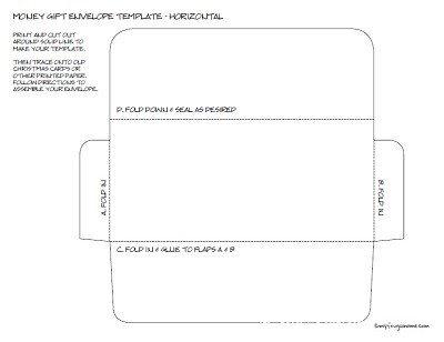Money Envelope Template - Horizontal