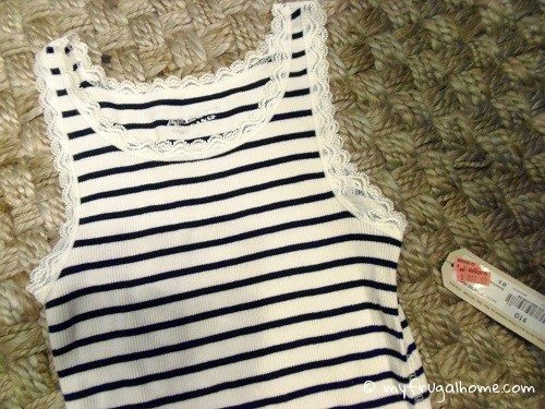 Navy Striped Tank