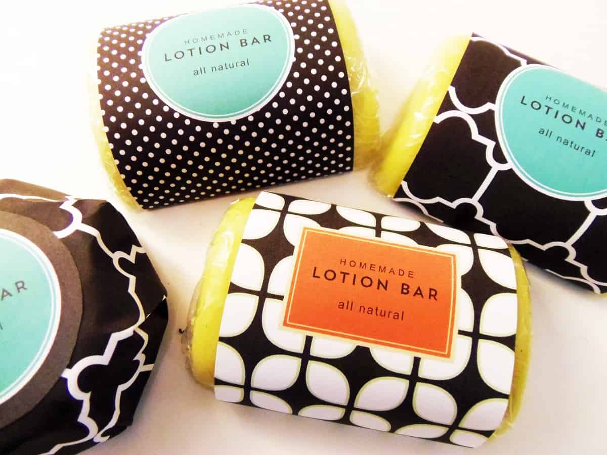 Homemade Lotion Bars With Printable Labels