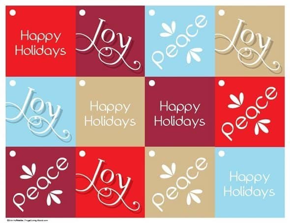 Simple Modern Holiday Gift Tags