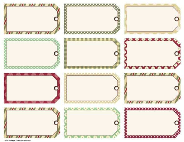 Traditional Manila Holiday Gift Tags