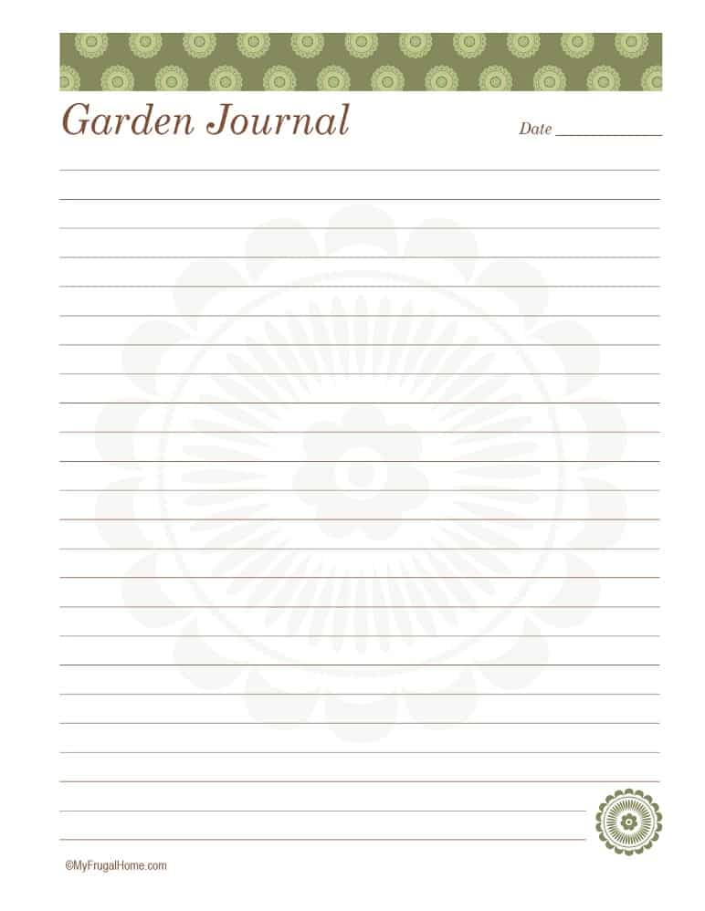 Daily Garden Journal