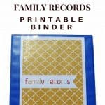 Printable Family Records Binder