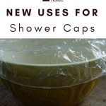 Shower Cap Covering Bowl of Leftovers