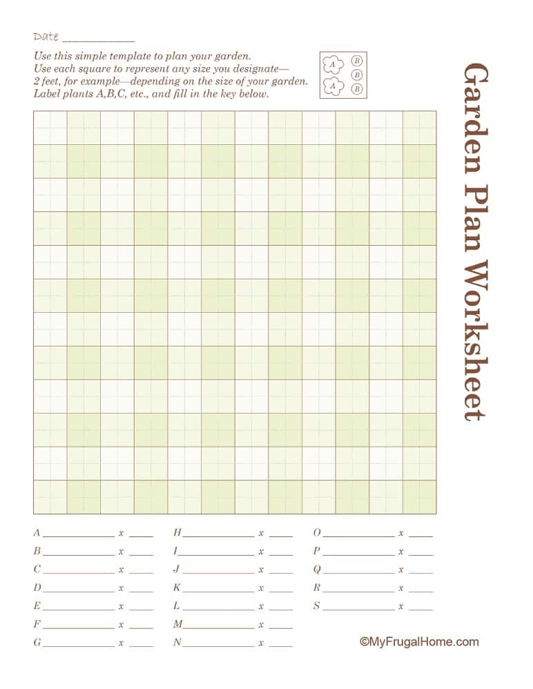Clean image with regard to garden planning worksheet